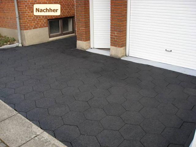 Garageneinfahrt asphalt  Die Beschichtung der befestigten Aussenfläche gibt dem Grundstück ...