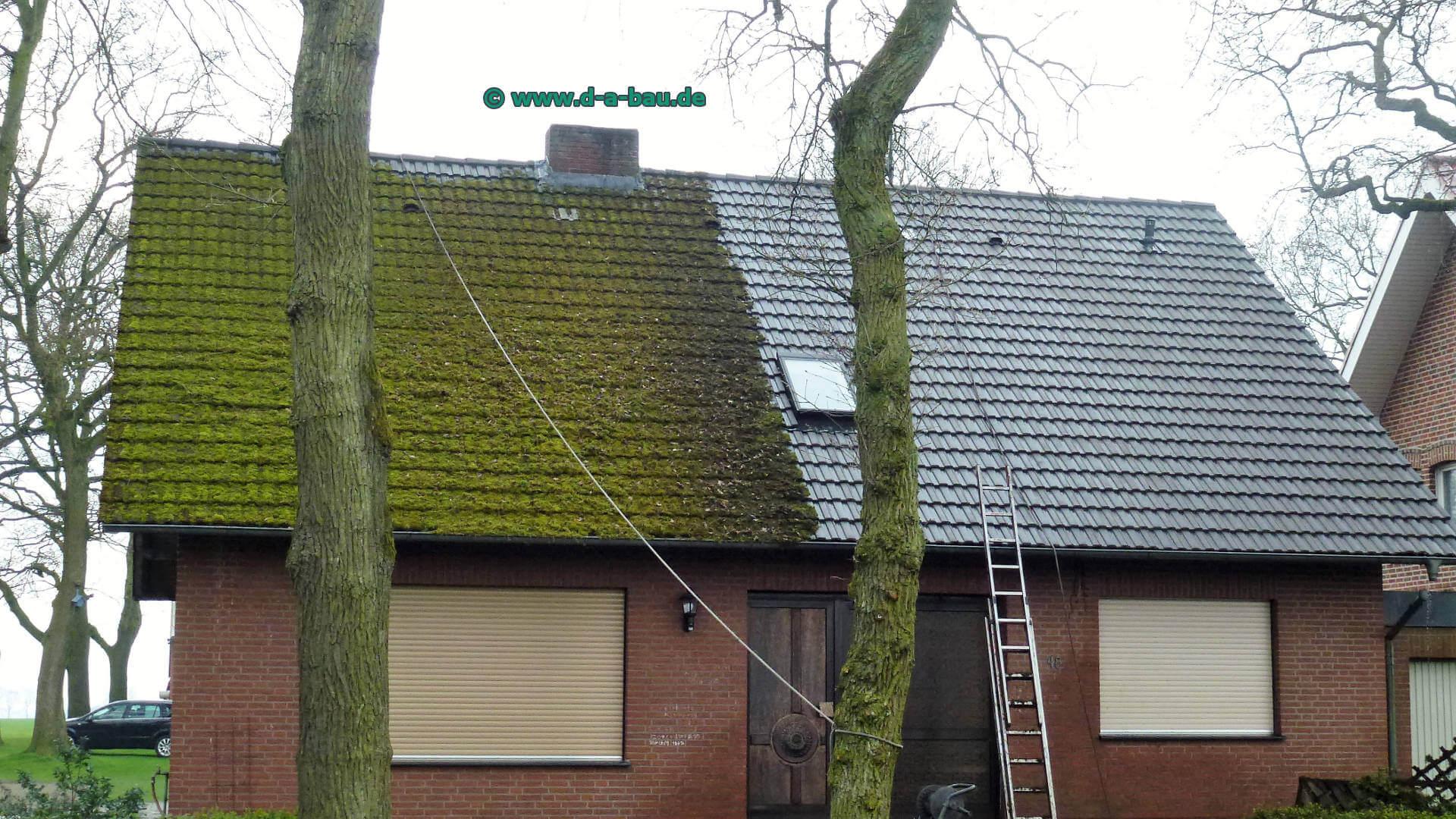 dachreinigung d und a bau reinigt ihr dach gr ndlich von moos und schmutz. Black Bedroom Furniture Sets. Home Design Ideas